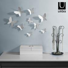 Umbra mariposa wall decor 470130-660 Διακοσμητικά τοίχου λευκές πεταλούδες - Περιλαμβάνει το σετ 9 τμχ. - justshop.gr