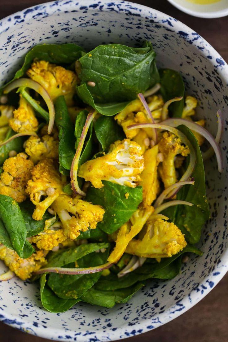 Turmeric Tahini Roasted Cauliflower Salad