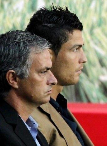 José Mourinho and Cristiano Ronaldo