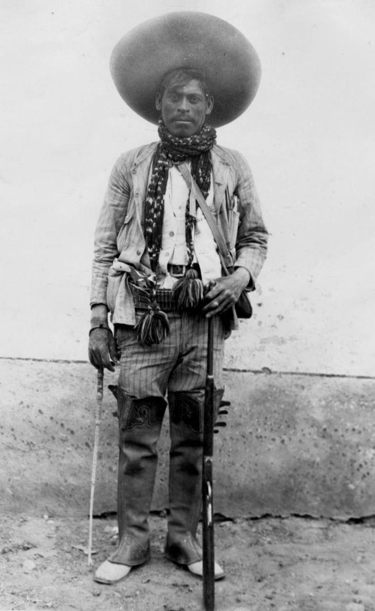 "A fighter in the Mexican Revolution, 1910s. (El Paso Public Library) """