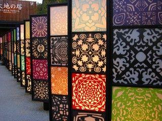 切り絵灯籠 - Cut picture lanterns