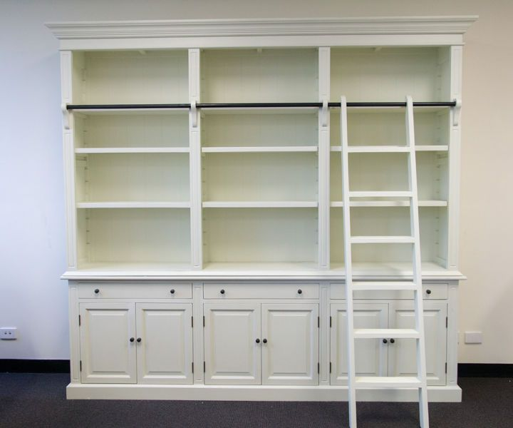 Three Bay French Provincial Style Library Bookcase With Ladder Other Furniture Gumtree Australia Greater