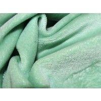 Sage Cotton Velour - GreenBeans, 150cm wide $7.98/0.5m, $15.95/m