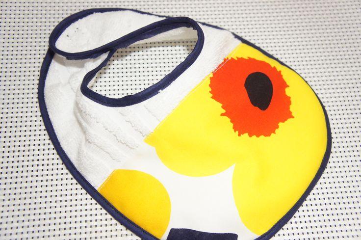 ordermade baby bib #handmade #baby #bib #sewing #babycloth #babybib #marimekko #unikko