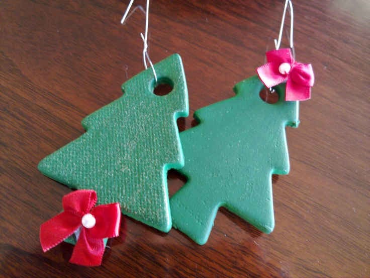 Cookie Cutter Ornaments (Pottery and Acrylic paint)