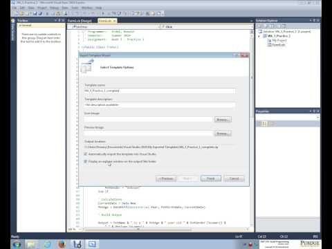 How to create a Visual Basic Program Template Tutorial