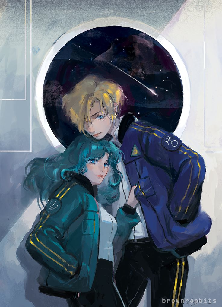 uranus and neptune *o*   by brownrabbits on tumblr