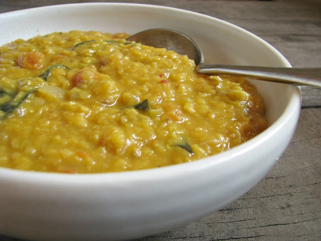 Tadka Dahl - Indian spiced red lentils; serve with basmati rice