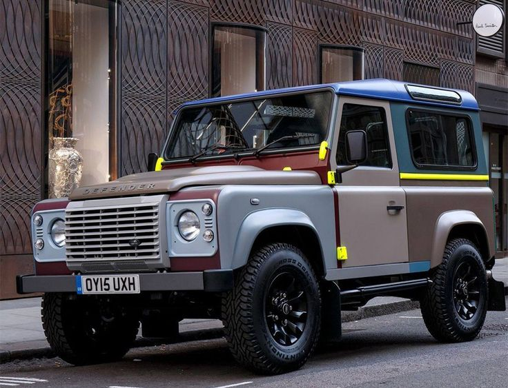 bespoke paul smith land rover defender decorated in 27 vibrant colors