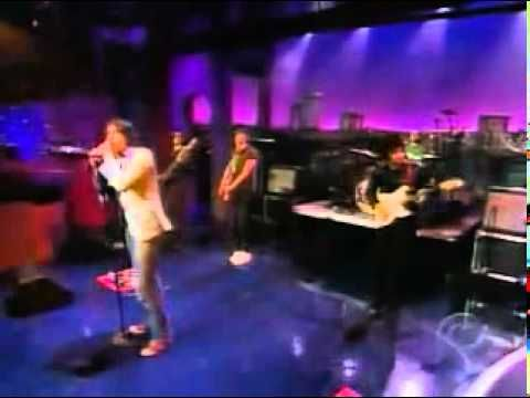 The Strokes - Someday (on Letterman).  Also this is what videos on the internet used to look like
