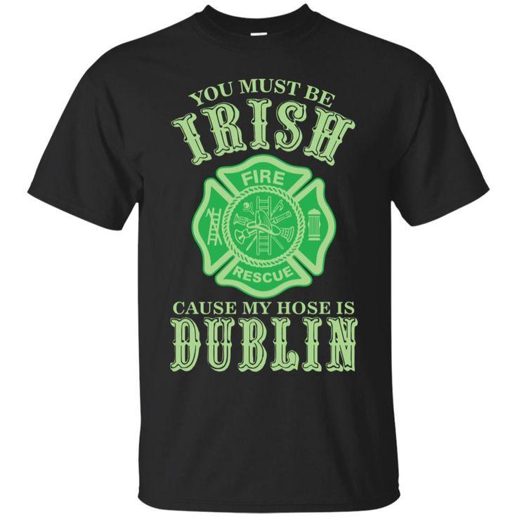 Awesome firefighters st patricks day irish t shirt