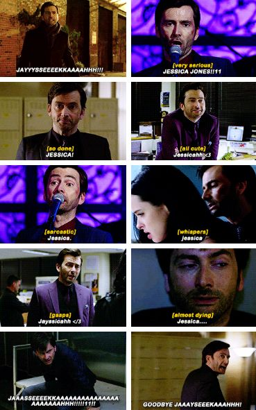 Jessica Jones.  Yeah, he might say that name a few times throughout the series.  You know, once or twice...three times tops.