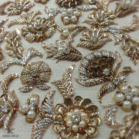 @zaheerabbasofficial - #details #handembroidery #couture #luxury #antique #craft #classic #zardozi #gold #silver #copper #pakistanibridal #zaheerabbas #Regrann