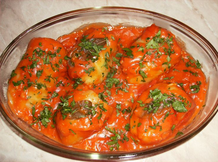 Ardei umplutI- stuffed peppers. This recipe is just the way my mom makes it