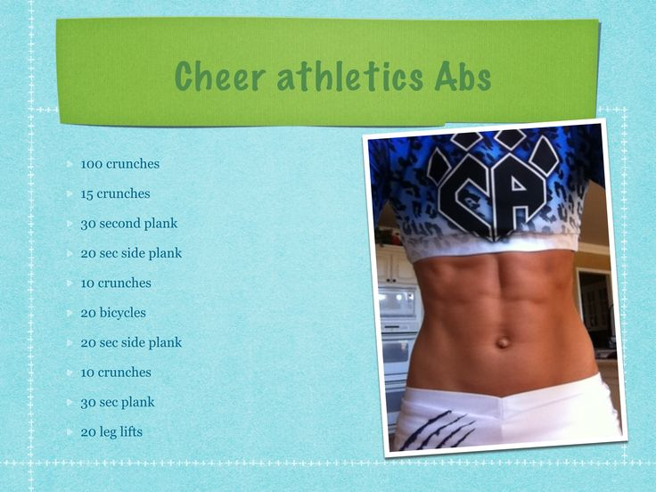 Cheer athletics abs. Fierce abs.