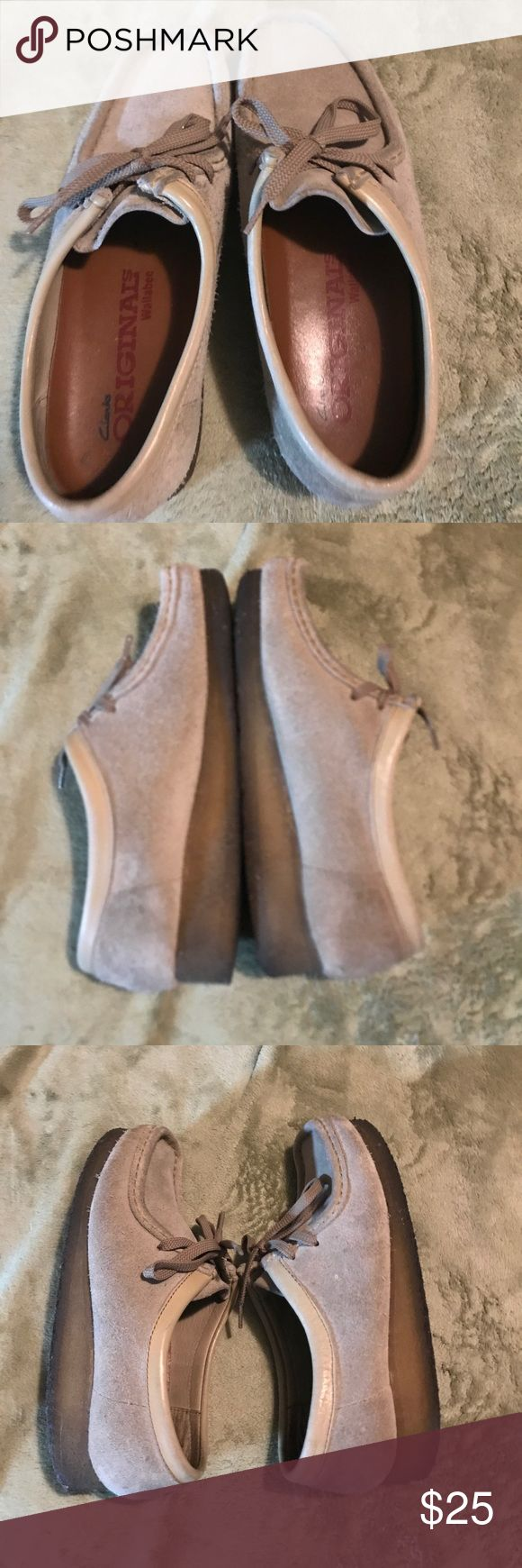 Clarks Wallabees Suede Suede Clarks Wallabees in women's size 7. Offers accepted. Discounted bundles. Clarks Shoes Flats & Loafers