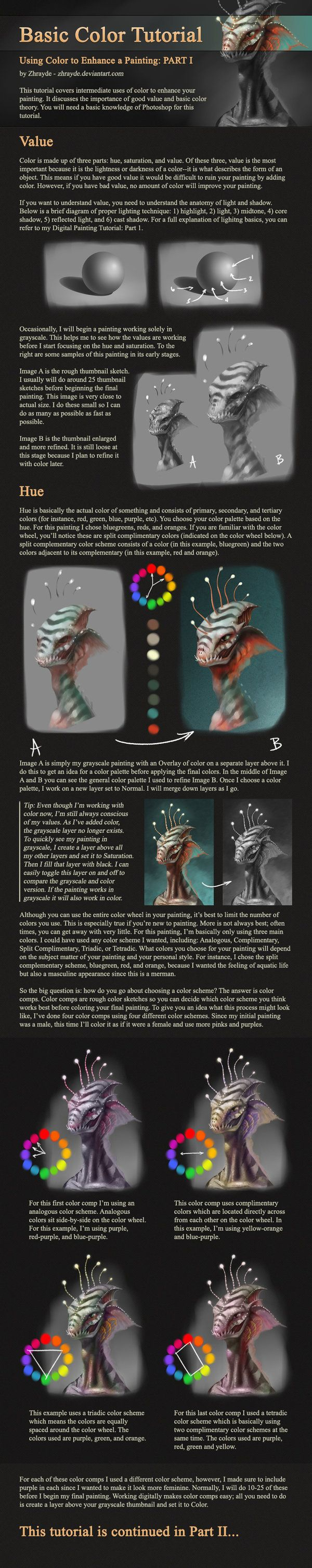 Basic Color Tutorial - Part 1 by Zhrayde [dA]