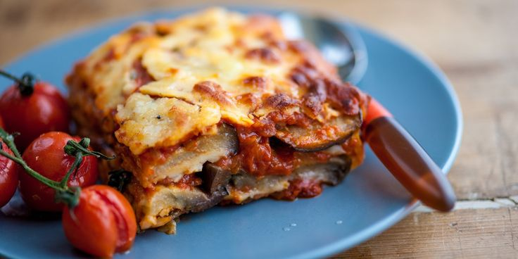 Marcello Tully's delicious aubergine parmigiana is a great recipe for a mid-week meal