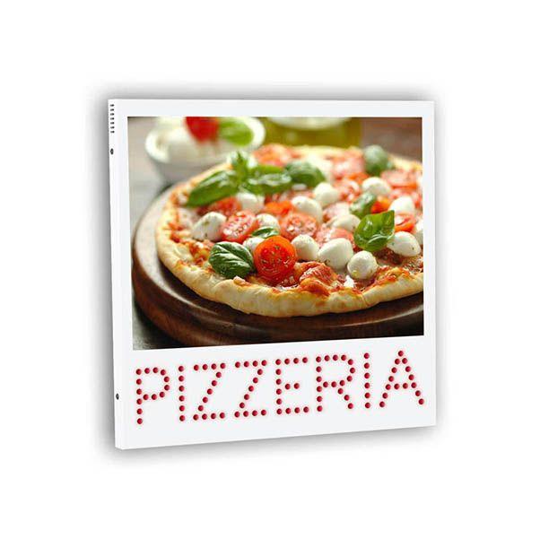 Insegna Monofacciale a LED per Pizzeria. Formato cm 60*60.