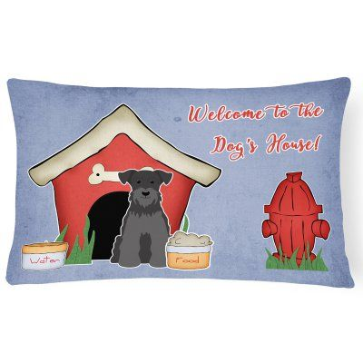 Carolines Treasures Dog House Collection Miniature Schnauzer Rectangle Decorative Outdoor Pillow - BB2805PW1216