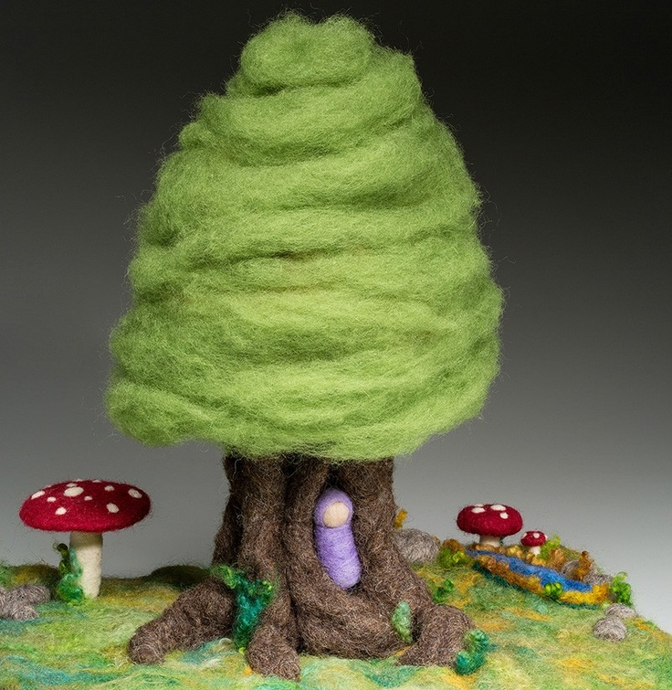 Opulent Fibers Store - Needle Felted Fantasy Tree, $65.00 (http://www.opulentfibers.com/needle-felted-fantasy-tree/)