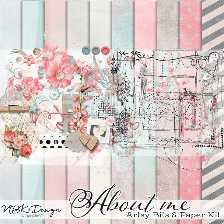 About me {Artsy Bits & Papers Kit}