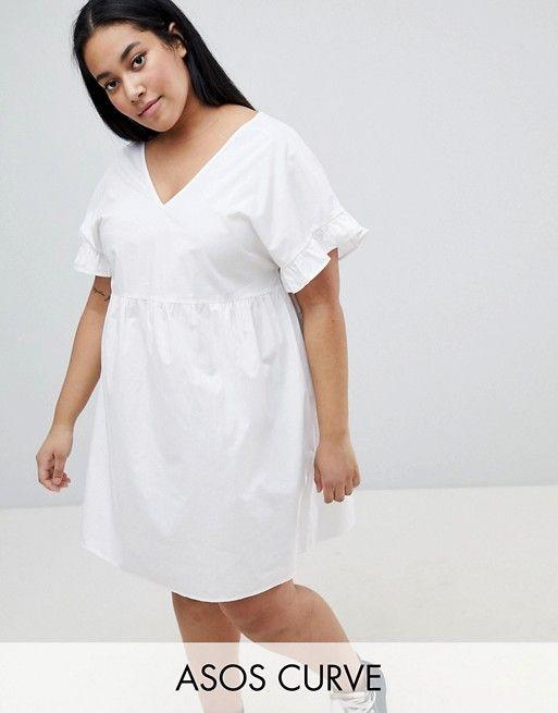 70470179641c1 DESIGN Curve V Front V Back Mini Cotton Smock Dress in 2018   Graduation    Pinterest   Smock dress, Dresses and Dresses online