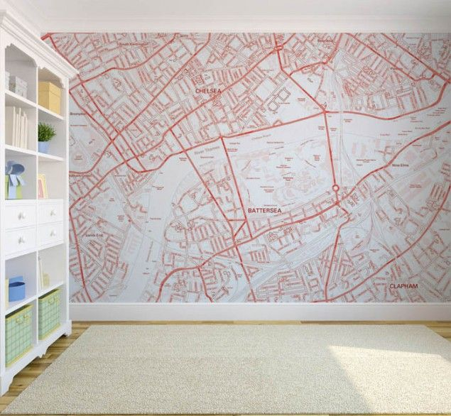 Custom Postcode Map Wallpaper from thedesignsheppard.com