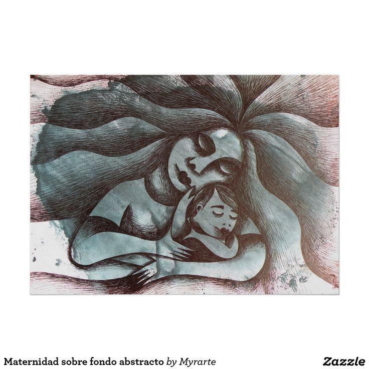 Maternidad sobre fondo abstracto. Regalos, Gifts. #poster