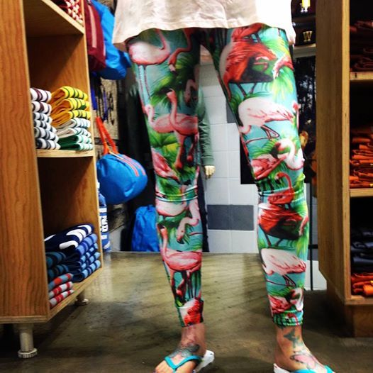flamingo leggings at WESC store, Thessaloniki