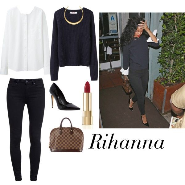 Rihanna by marijana-nikolic-mn on Polyvore featuring Uniqlo, Organic by John Patrick, Paige Denim, Dune, Louis Vuitton, Michael Kors and Dolce&Gabbana