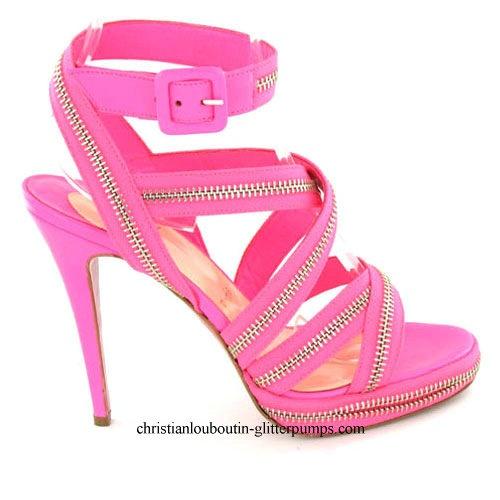 Christian Louboutin Rodita Zip Platforms Pink