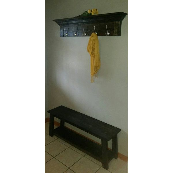 Rustic Entryway Set Entryway Decor Set Crown Molding Shelving Rustic... ($275) ❤ liked on Polyvore featuring home, furniture, benches, benches & trunks, dark olive, home & living, living room furniture, shoes rack, shoe trunk and shelves racks