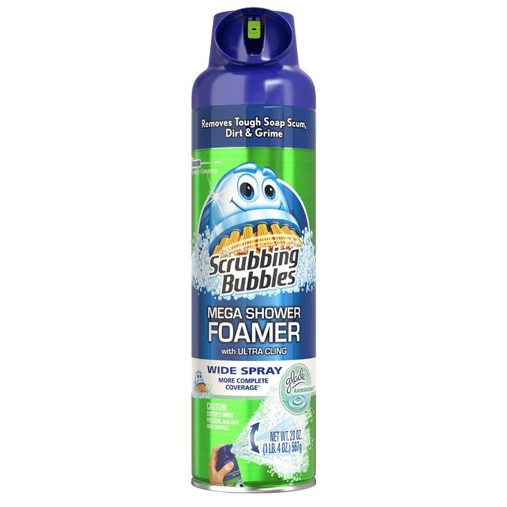 Scrubbing Bubbles Mega Shower Foamer.  http://www.realsimple.com/home-organizing/cleaning/bathroom-products/best-showers