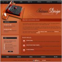Website Design California Interior Design Template