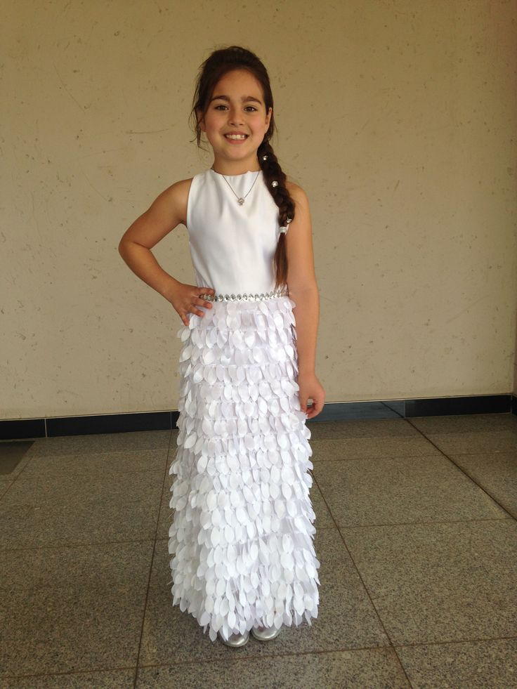 all white communion dress worn by the most special little girl Ava