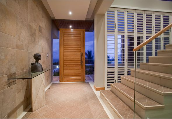 Welcome shutters in the entrance hall