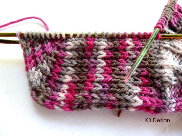 Anleitung für eine v erstärkte Herzchenferse und Spitze    Schon oft wurde ich gefragt, wie ich die Fersen bei den Socken stricke. Erfunden ...