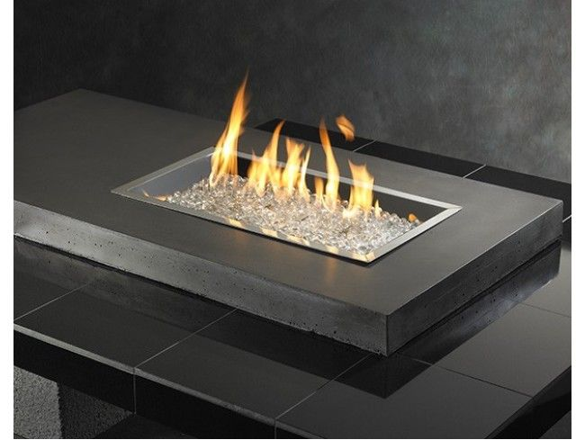 Outdoor Great Room Uptown Black Fire Pit Table With Tile Top Base Cf 1242 Burner Burner Cover Not Included A Fire Pit Diy Fire Pit Cheap Outdoor Fire Pit