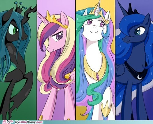 My Little Pony Friendship Is Magic Princess Celestia And Princess Luna And Cadence