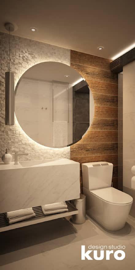: Baños de estilo moderno por Kuro Design Studio