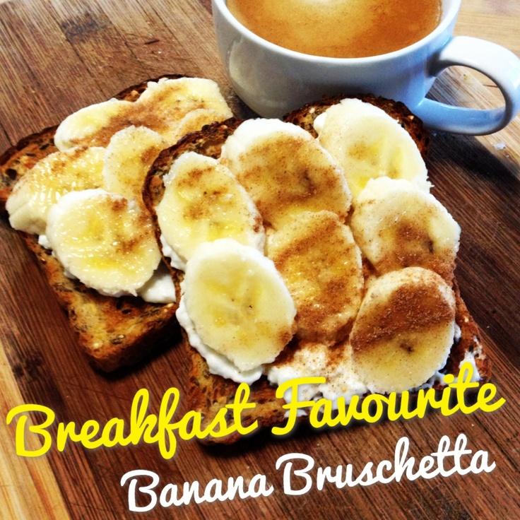 Favourite breakfast - 12wbt banana bruschetta!