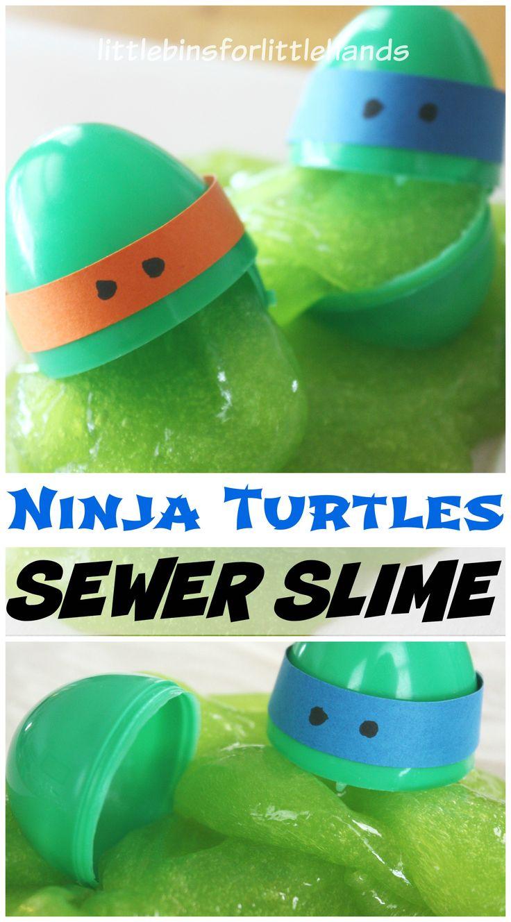 Ninja Turtles Slime Recipe: Sewer Slime Sensory Play