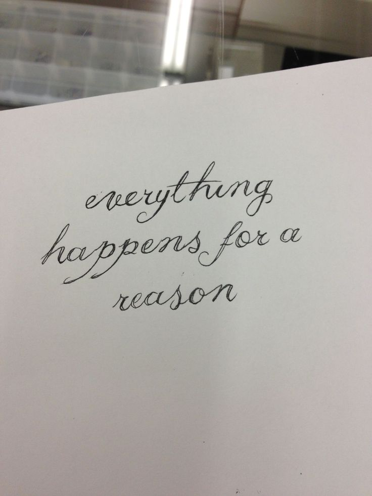 """essay about everything happens for a reason When some tragic instance occurs, the phrase """"everything happens for a reason"""" comforts those in pain, letting them know that there is."""