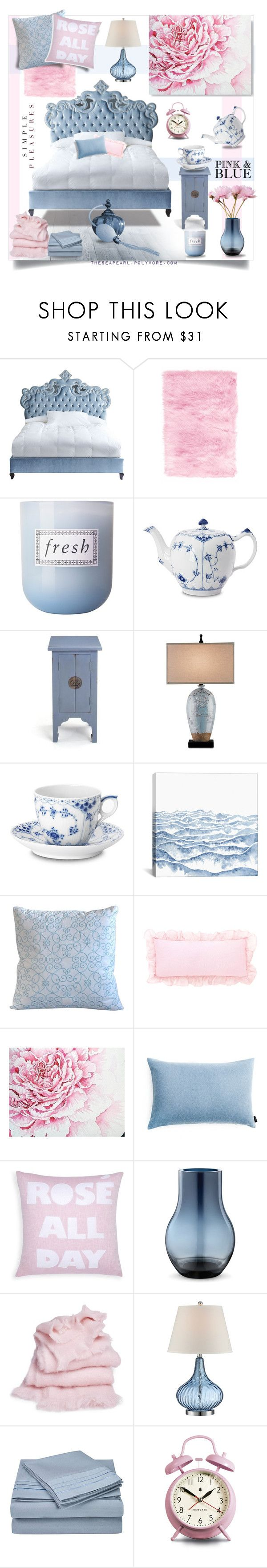 """Pantone 2016 Bedroom: Simple Pleasures"" by theseapearl ❤ liked on Polyvore featuring interior, interiors, interior design, home, home decor, interior decorating, Haute House, Home Decorators Collection, Fresh and Royal Copenhagen"