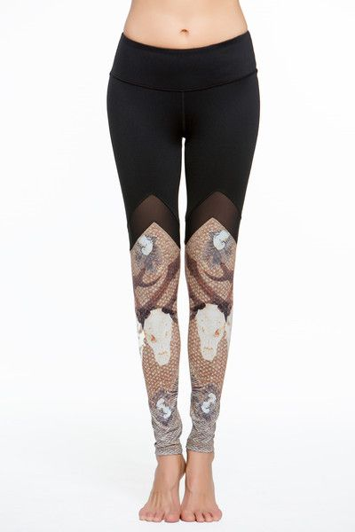 Slip into these edgy leggings on your next jog for a look that strides above the competition. Technical features like quick dry, moisture wicking and breathable