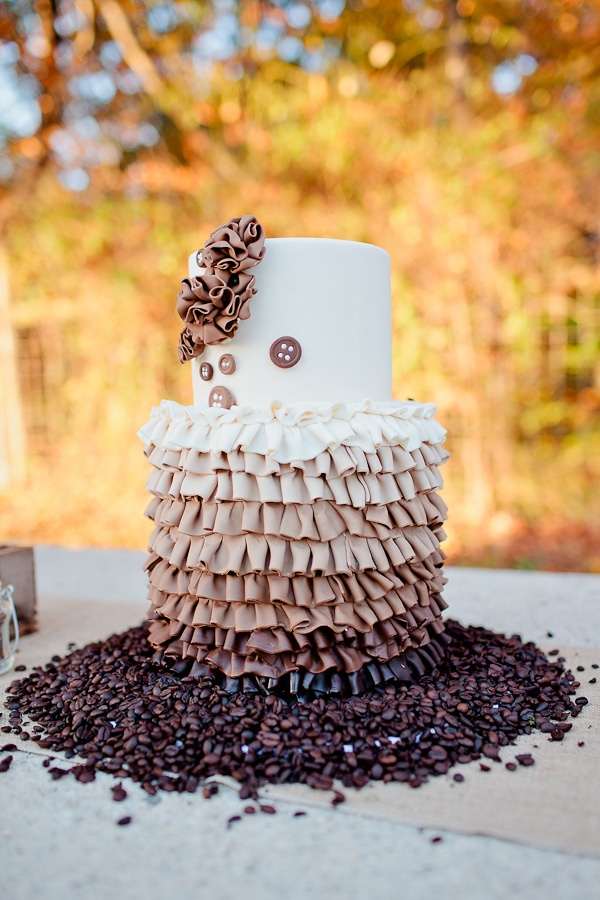 Ombre Wedding Cake Ruffled Wedding Cake Brown Ombre By Blue Sheep