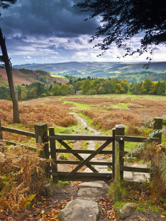 UK, England, Derbyshire, Peak District National Park, from Stanage Edge Photographic Print