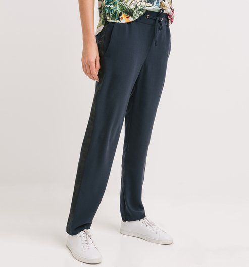 Splývavé kalhoty námořnická modrá - Promod