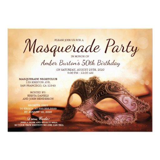 89 best images about Birthday Party Invitation Templates – Masquerade Party Invitation Template